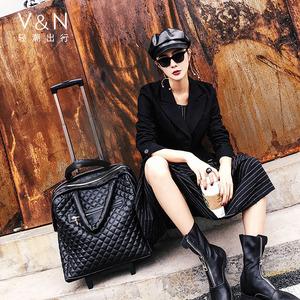 韩版行李箱女万向轮轻便旅行箱包手提箱拉杆包小拉杆箱18寸登机箱
