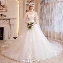 Red Hepburn Wedding Garment 2019 Bride Dress Female Small French Slim Luxury Tail