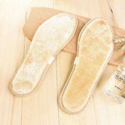 保暖鞋垫男女士冬季透气吸汗防臭加绒加厚手工羊毛鞋垫棉软毛毛绒