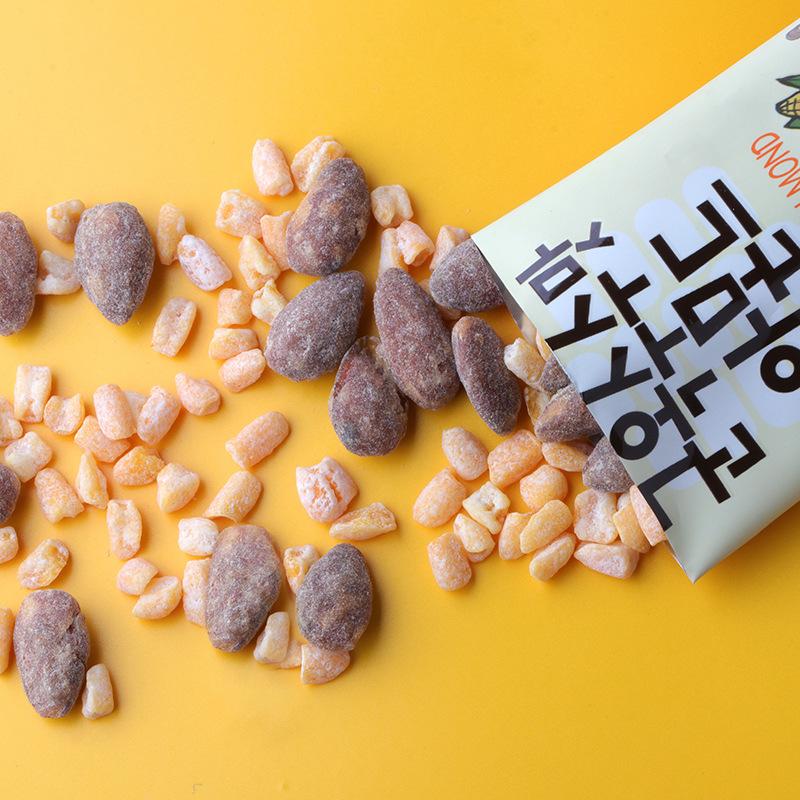 韩国进口休闲食品烤玉米味扁桃仁零食网红杏仁坚果商