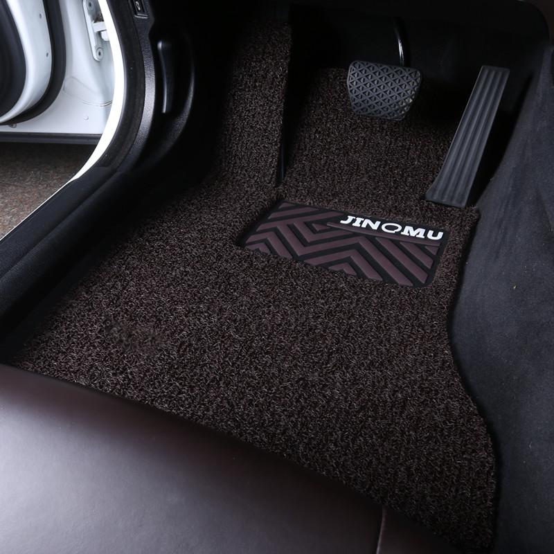 汽车丝圈脚垫通用易清洗可裁剪专用主驾驶副驾驶单片加厚防水脚垫