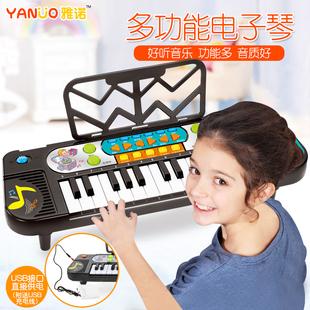 初学女孩早教益智小钢琴玩具电子琴