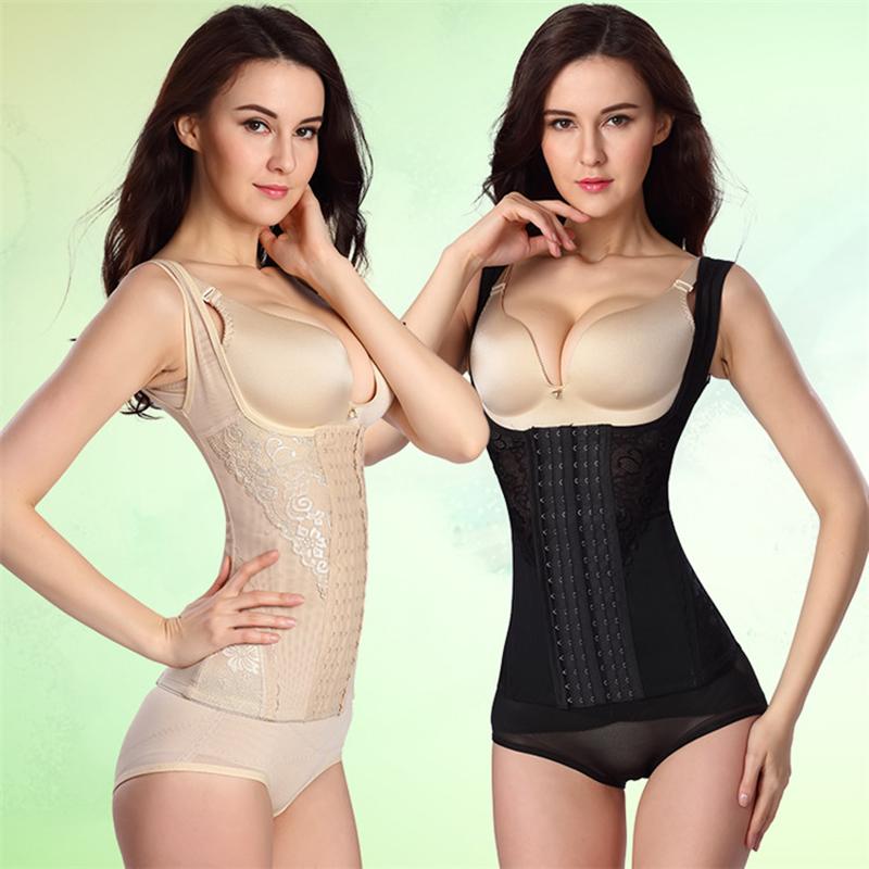 六排扣加强分体塑身背心束身衣收腹衣美体衣女塑形衣塑身上衣薄款