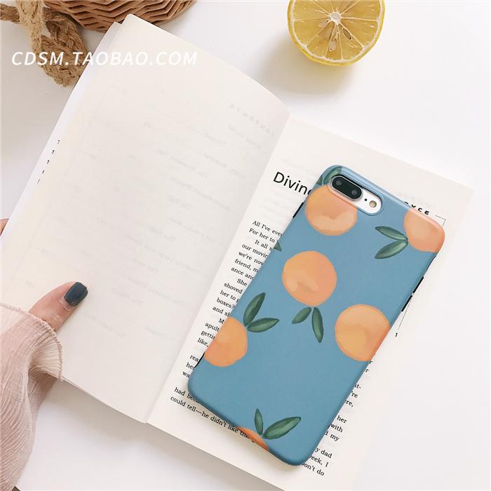 韩国ins风复古橘子苹果6s手机壳iPhone7plus/8/X全包软硅胶套女款