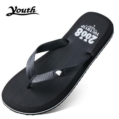 夏季拉条户外拖鞋 夹脚防滑沙滩鞋 男士 新款 人字拖鞋 时尚 夹拖凉拖