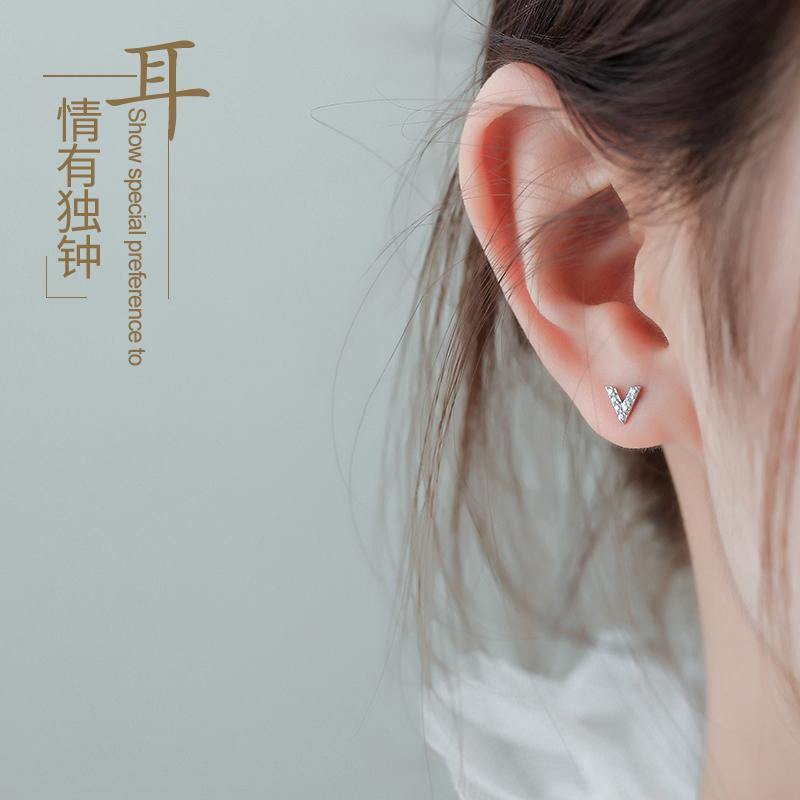 925 2019新款潮韩国简约女纯银耳钉