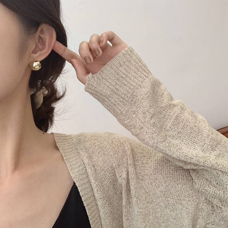 Ins cold wind Earrings 2019 new fashion Korean net red temperament simple and versatile Earrings womens advanced sense