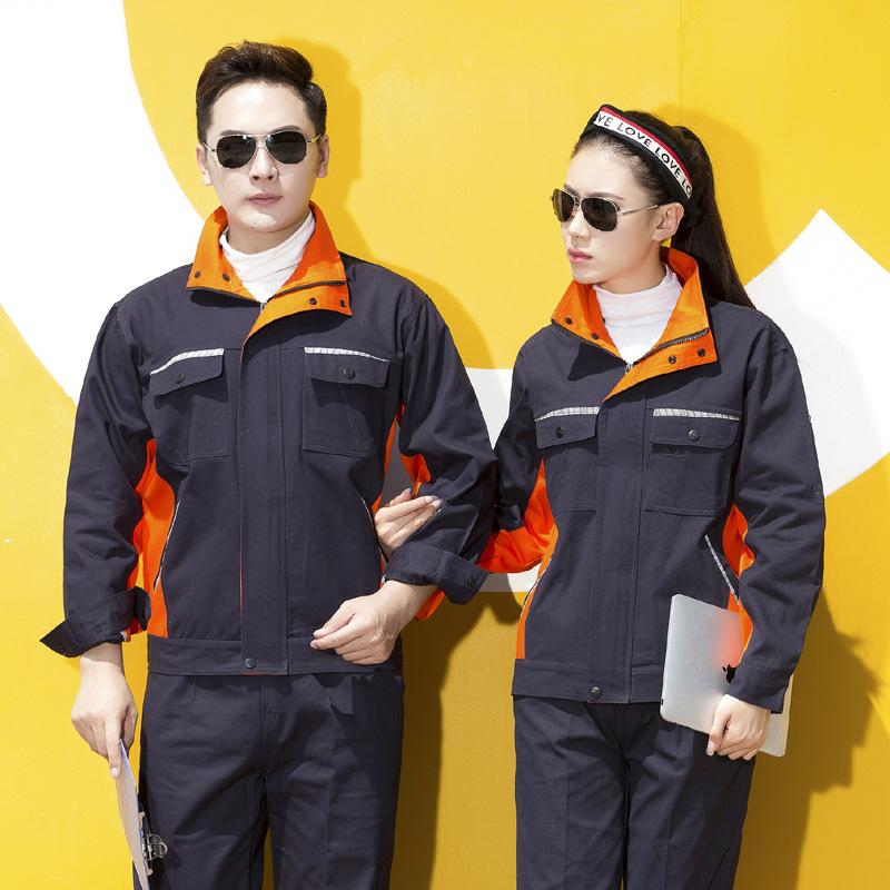 Maintenance long sleeved autumn and winter engineering clothes, automobile maintenance work clothes, road and Bridge supervision clothes, railway constructors uniforms, electricians