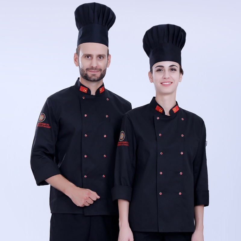 Barbecue uniform pastry service cook work clothes custom printing autumn and winter long sleeve cake room work clothes