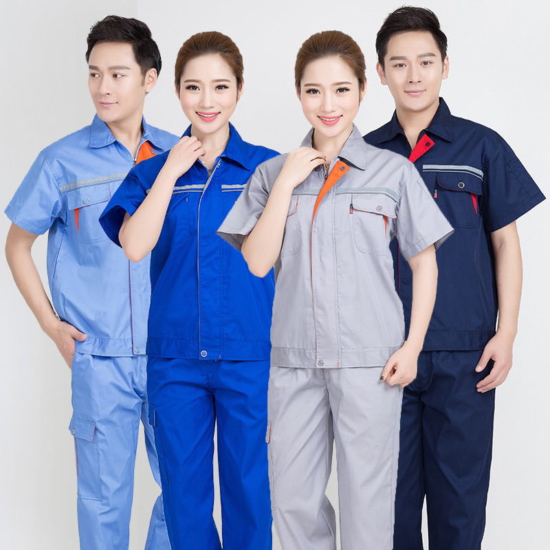 Railway construction engineering clothing half sleeve summer clothing road and Bridge supervision work clothing construction team uniform decoration clothing electrical clothing