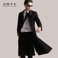 2020新款春秋男士修身长款英伦风衣
