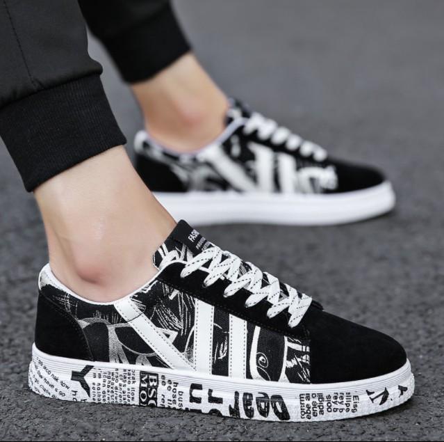 男韩版春季帆布鞋潮流男鞋男士百搭板鞋休闲鞋运动鞋子