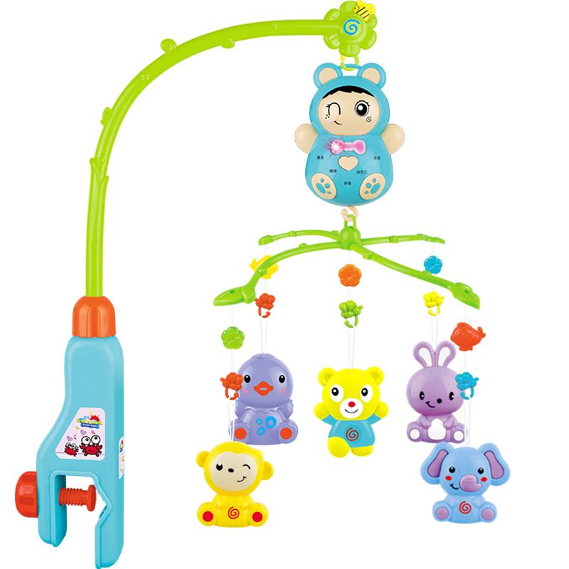 新生兒寶寶床鈴0~1歲嬰兒搖鈴玩具3~6~12個月音樂盒旋轉床頭鈴