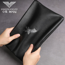 Zhuofani men's handbag 2019 new deer head business leather leisure large capacity envelope handbag