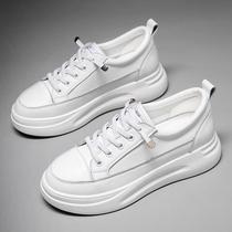 秋冬季棉鞋运动鞋休闲百搭韩版学生鞋潮2018加绒小白鞋女皮面鞋子