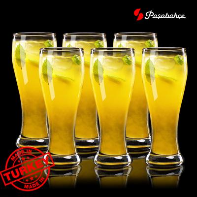 原装进口 欧式透明玻璃杯果汁杯啤酒杯茶杯水杯喝水杯子 套装家用