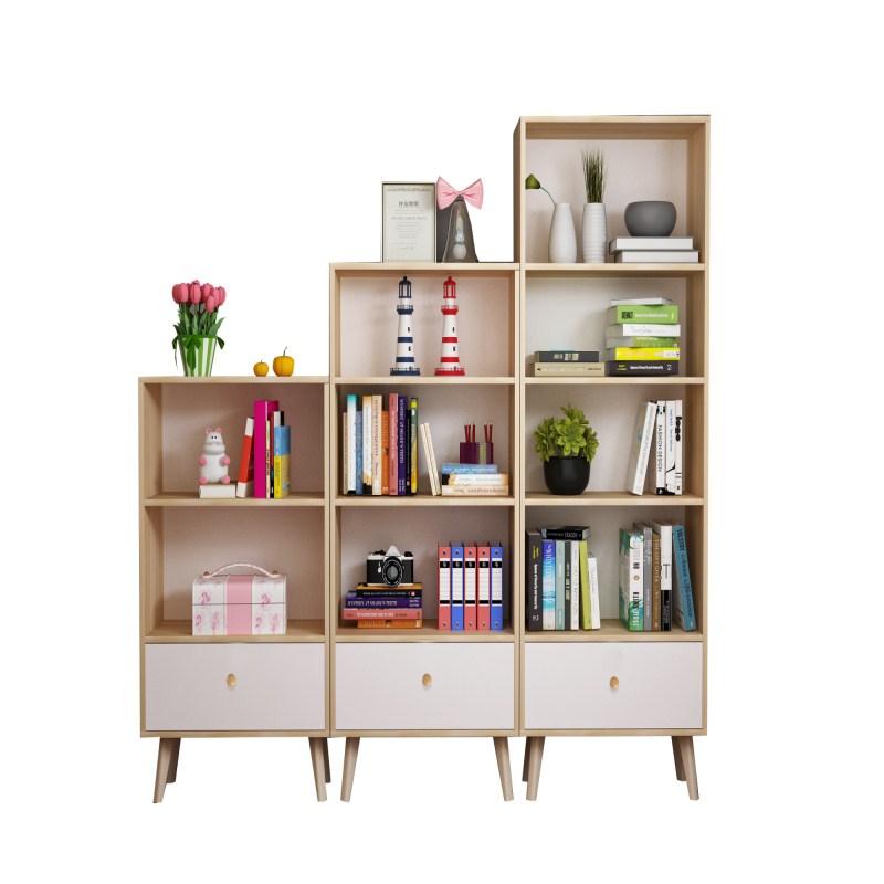 书架落地实木简易创意多层组合飘窗客厅转角收纳储物置物架经济型