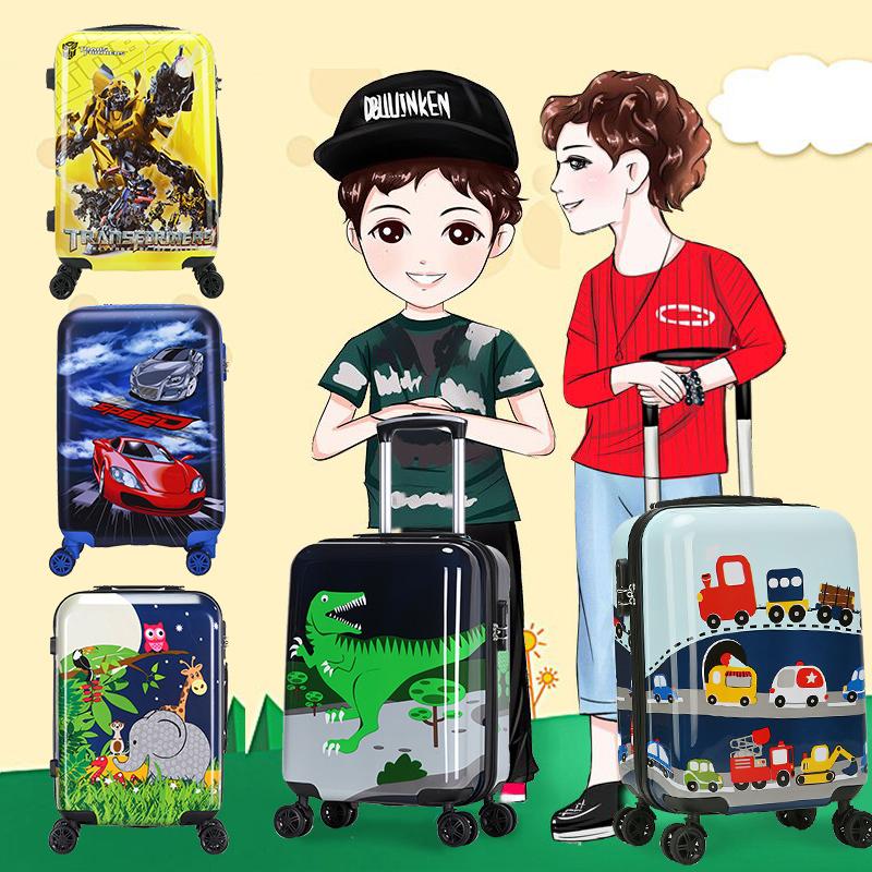 大黄蜂儿童拉杆箱20寸万向轮卡通行李箱女学生18寸可坐旅行箱男孩