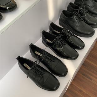 店主自留推荐!不挑风格橡胶软底经典韩版系带低跟低帮鞋单鞋女鞋