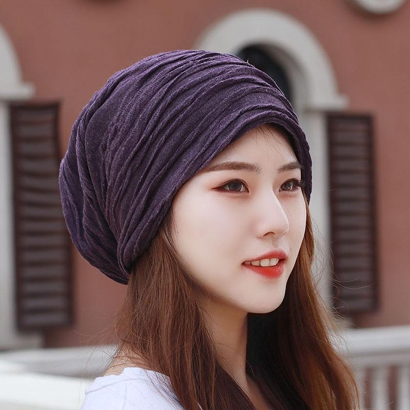 男女韩版潮大码韩国套头堆堆光头帽