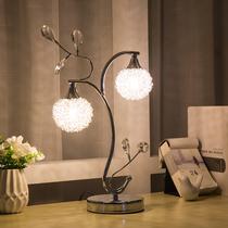 现代床头水晶温馨婚庆触摸简约调光客厅礼品卧室创意装饰欧式台灯
