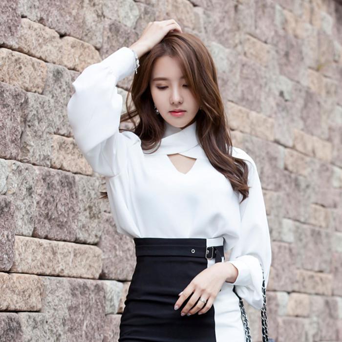 满60元可用5元优惠券白色女衫春季2019新款很仙的衬衫