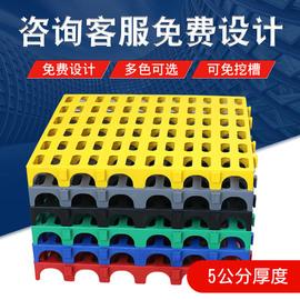 塑料拼接格栅4S汽车洗车房免挖沟地漏地沟地网格排水地垫格栅地板