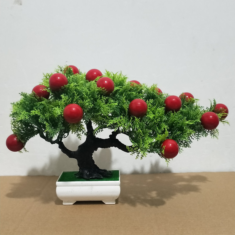 Simulation plastic artificial flowers green plants potted living room bedroom decorations windowsill office partition cabinet furnishings