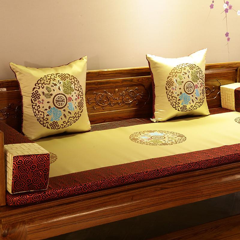 Продаётся напрямую с завода китайский стиль красное дерево мебель подушка ocean кровать коврик губка пять частей подушки на диване сделанный на заказ