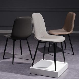 餐椅家用北欧现代简约椅子靠背铁艺轻奢洽谈餐厅餐桌椅化妆椅凳子