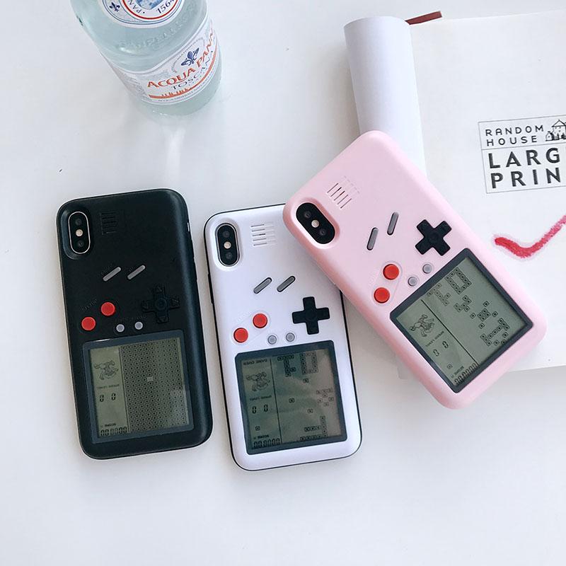 ins网红抖音同款游戏机iphone 8plus俄罗斯方块手机壳苹果7p新款6s潮牌6情侣防摔套8X趣味六七八男女个性创意