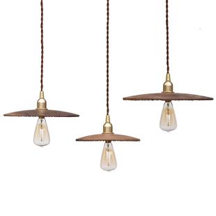黑胡桃木吊灯黄铜北欧设计餐厅吧台客厅简约现代日式复古家用灯具
