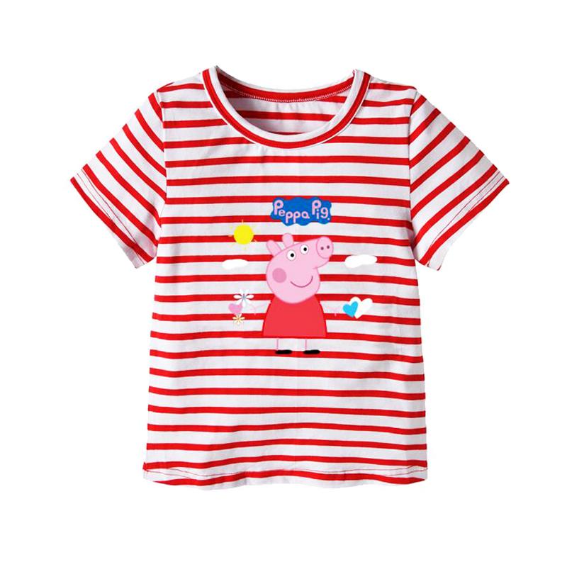 小猪佩琪背心纯棉男女童宝宝短袖夏2佩奇乔治姐弟装1-3岁4儿童T恤