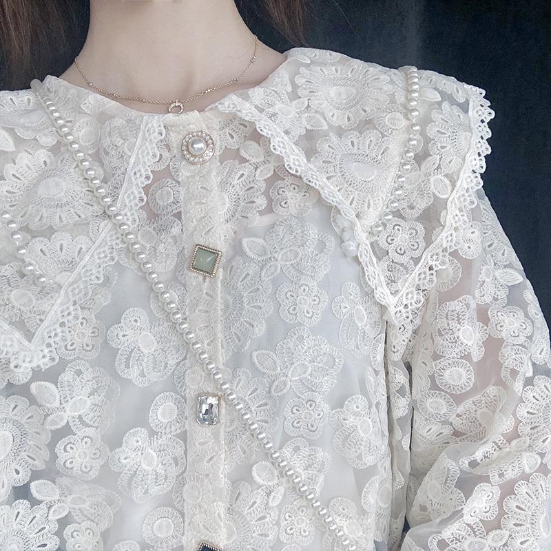 券后158.00元初秋女上衣轻熟娃娃领女设计感衬衫