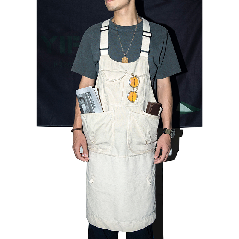 Yifaesu Japanese retro summer outdoor functional work clothes vest suspender multi bag apron waistcoat waistcoat male
