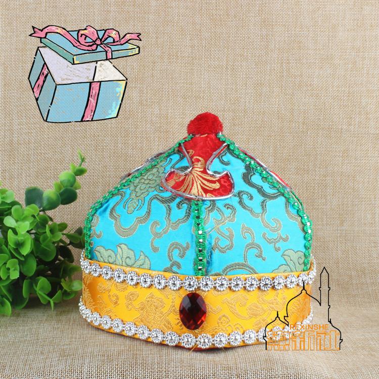 Синьцзян характеристика народ этап головной убор монголия гонка танец производительность шляпа высококачественный древний наряд драма моллюск сдерживать отец сын крышка