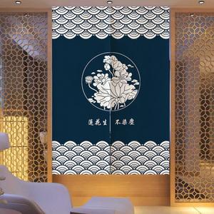 个性民族花纹居家装饰布艺门帘卧室客厅厨房玄关遮挡隔断帘免打孔