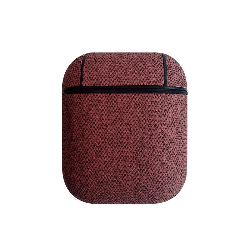 适用于Airpods无线蓝牙耳机 PU贴皮保护套 防摔苹果耳机保护套