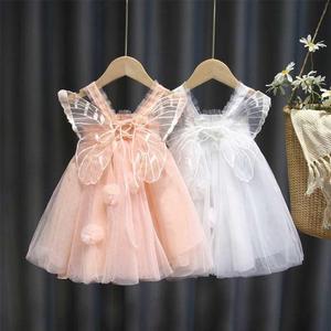 女宝宝夏季连衣裙童装网纱天使公主裙仙女童吊带生日礼服蓬蓬裙子