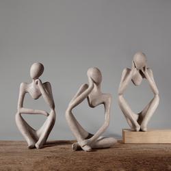 北欧创意小众家居装饰品客厅ins风时尚雕塑抽像艺术人物桌面摆件
