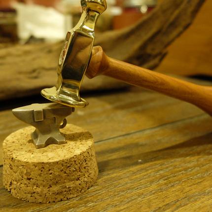 赤羽手作 纯铜线锤  锤子 线锤 手工工具 DIY 皮具工具 高颜值