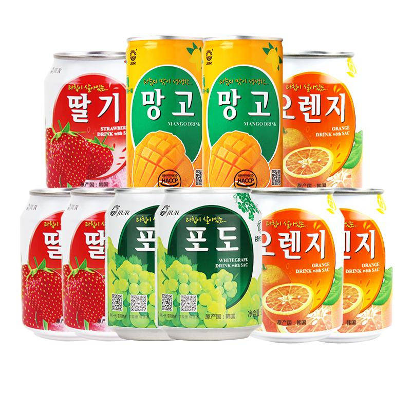 九日韩国原装进口味葡萄芒果肉果汁饮料品238ml*8+175ml*2罐整箱
