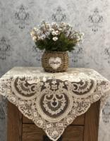 欧式盖布丝绒蕾丝绣花桌布床头柜电视冰箱茶几茶具沙发遮尘布盖巾