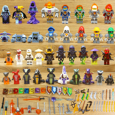 Compatible with LEGO future Knight Order clown stone Troll big showdown machine armor assembly building block toy 7035