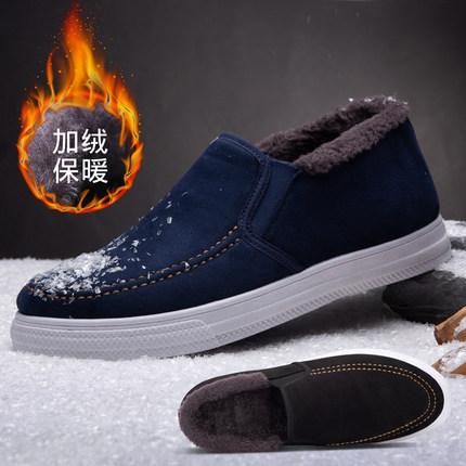 冬季男潮鞋百搭运动休闲保暖棉鞋2018新款韩版潮流加绒加厚短靴子