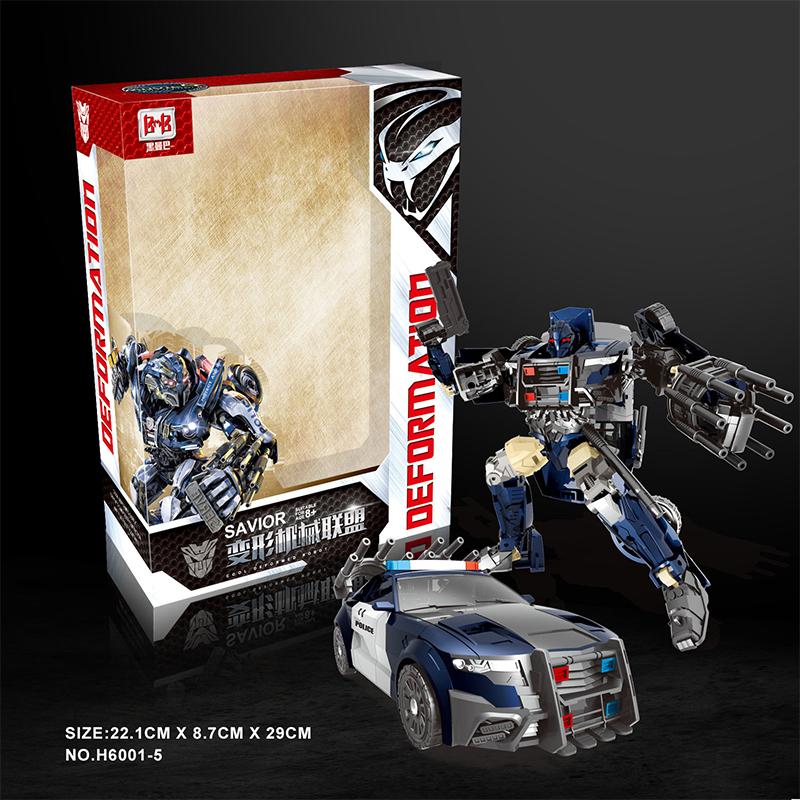 12-02新券变形玩具金刚5 黑曼巴电影版路障警察汽车机器人儿童男孩拼装模型