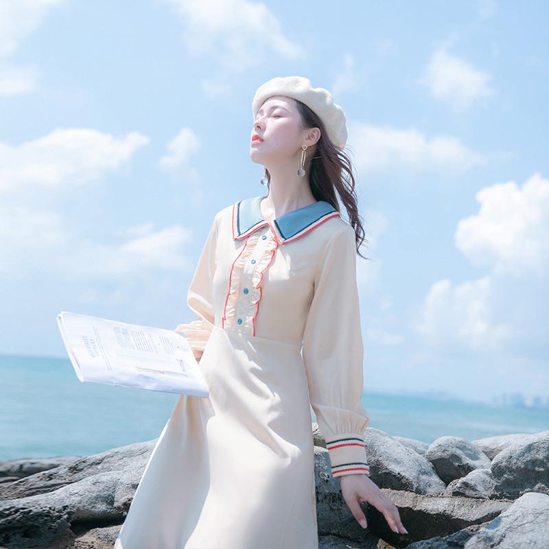 148.00元包邮秋装2019年新款春秋高冷系连衣裙
