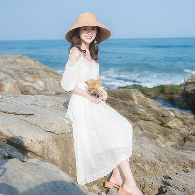 2020流行裙子夏季新款很仙的法国小众吊带连衣裙裙子仙女超仙森系