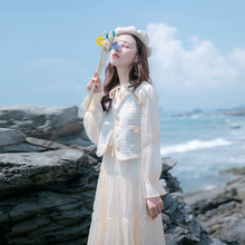 Autumn 2019 new women's spring and autumn skirt high cold temperament small fragrance suit skirt two piece dress women