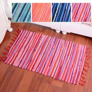包邮编织棉碎布条地毯手工客厅茶几卧室床边榻榻米地垫